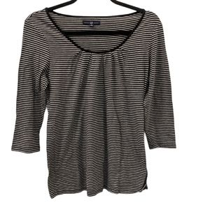 GAP Striped 3/4 Sleeve Blouse size Small